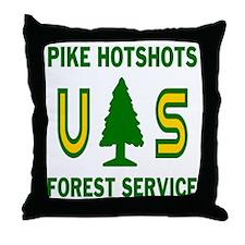 Pike-Hotshots-Shirtback Throw Pillow