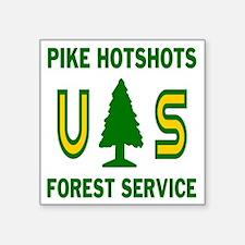 "Pike-Hotshots-Shirtback Square Sticker 3"" x 3"""