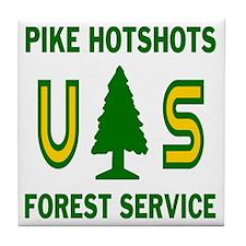 Pike-Hotshots-Shirtback Tile Coaster