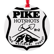 Pike-Hotshots-Black-White Ornament