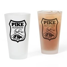 Pike-Hotshots-Black-White Drinking Glass