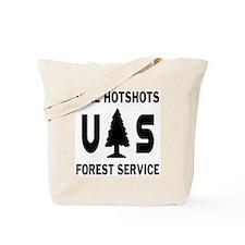 Pike-Hotshots-Shirtback-Black Tote Bag