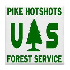 Pike-Hotshots-Shirtback-Green Tile Coaster