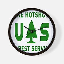 Pike-Hotshots-Shirtback-Green Wall Clock