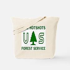 Pike-Hotshots-Shirtback-Green-White Tote Bag
