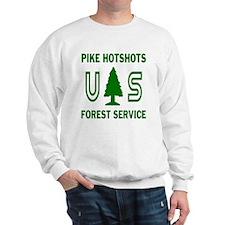 Pike-Hotshots-Shirtback-Green-White Sweatshirt