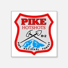 "Pike-Hotshots-Dark-Shirt-PN Square Sticker 3"" x 3"""