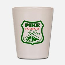 Pike-Hotshots-Green-Red Shot Glass