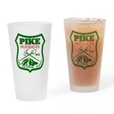 Pike-Hotshots-Green-Red Drinking Glass