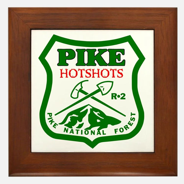 Pike-Hotshots-Green-Red Framed Tile