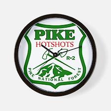Pike-Hotshots-Green-Red Wall Clock