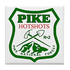 Pike-Hotshots-Green-Red Tile Coaster