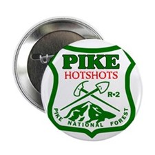 "Pike-Hotshots-Green-Red 2.25"" Button"