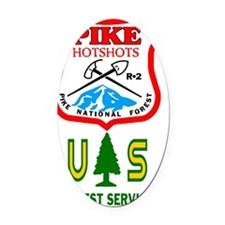 2-Pike-Hotshots-Sticker-1 Oval Car Magnet