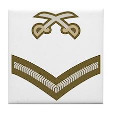British-Army-PTI-LCpl-Bear Tile Coaster
