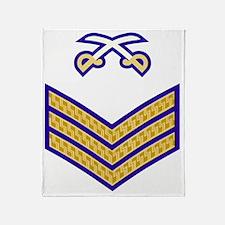 British-Army-PTI-Sergeant-Blue-Dress Throw Blanket