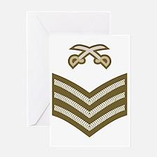 British-Army-PTI-Sergeant-Khaki-PNG Greeting Card