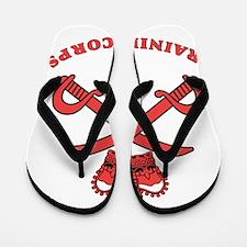 British-Army-PTI-Logo-Red-Bonnie Flip Flops