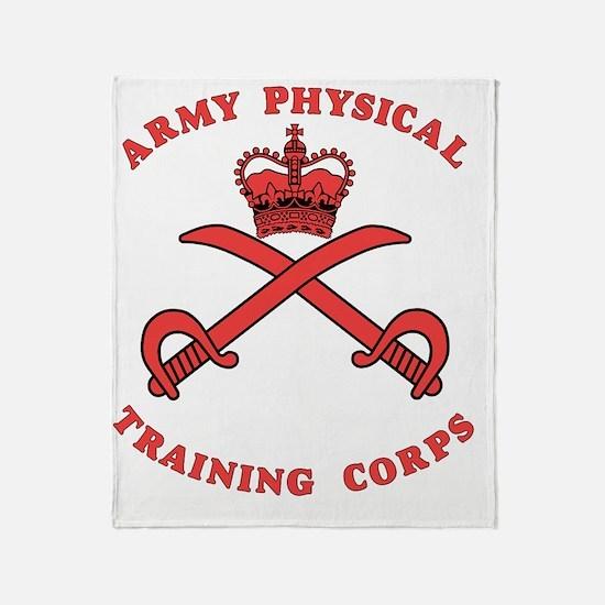British-Army-PTI-Logo-Red-Bonnie Throw Blanket