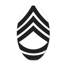 Army-SFC-Subdued-Bonnie Oval Car Magnet