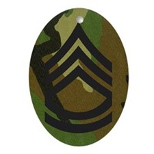 Army-SFC-Woodland-Magnet Oval Ornament
