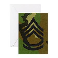 Army-SFC-Woodland-Magnet Greeting Card