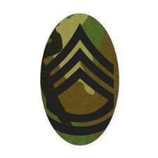Army-SFC-Woodland-Magnet Oval Car Magnet