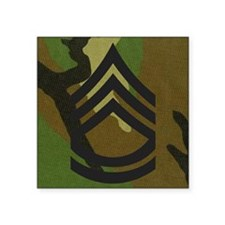 "Army-SFC-Woodland-Mousepad- Square Sticker 3"" x 3"""