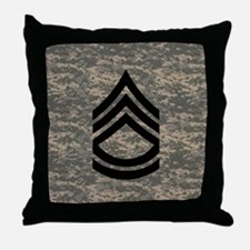 Army-SFC-ACU-Tile-PNG Throw Pillow