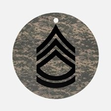 Army-SFC-ACU-Tile-PNG Round Ornament