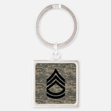 Army-SFC-ACU-Tile-PNG Square Keychain