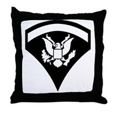 Army-Spec5-Pin-PNG Throw Pillow