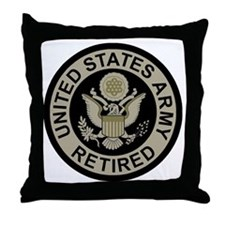 Army-Retired-Subdued Throw Pillow