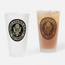 Army-Retired-Subdued Drinking Glass