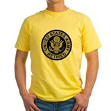 Army retired Mens Yellow T-shirts