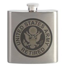 Army-Retired-Subdued Flask
