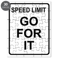 Sign-Speed-Limit-Go Puzzle