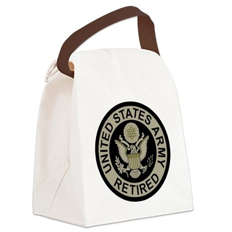 Army-Retired-Subdued Canvas Lunch Bag