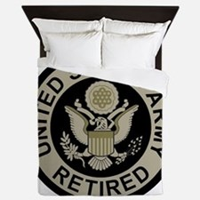 Army-Retired-Subdued Queen Duvet