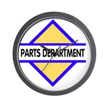 Sign-Parts-Department Wall Clock