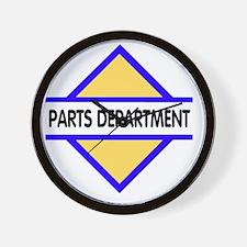 Sign-Parts-Department Wall Clock