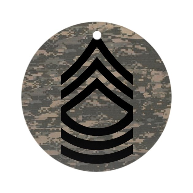 Army-MSG-Subdued-Tile-ACU Round Ornament by Admin_CP233372