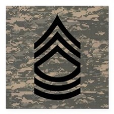 """Army-MSG-Subdued-Tile-AC Square Car Magnet 3"""" x 3"""""""