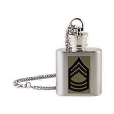 Army-MSG-Subdued-Magnet-Olive Flask Necklace