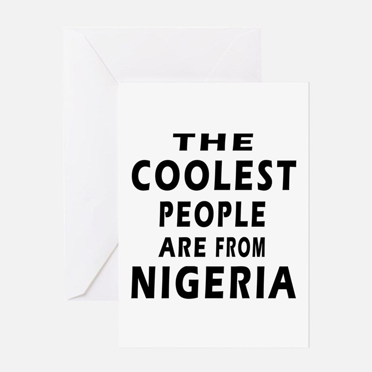 The Coolest Nigeria Designs Greeting Card