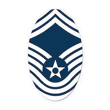 USAF-SMSgt-X Oval Car Magnet