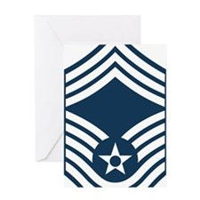 DELETE-From-Here-USAF-CMSgt-X Greeting Card