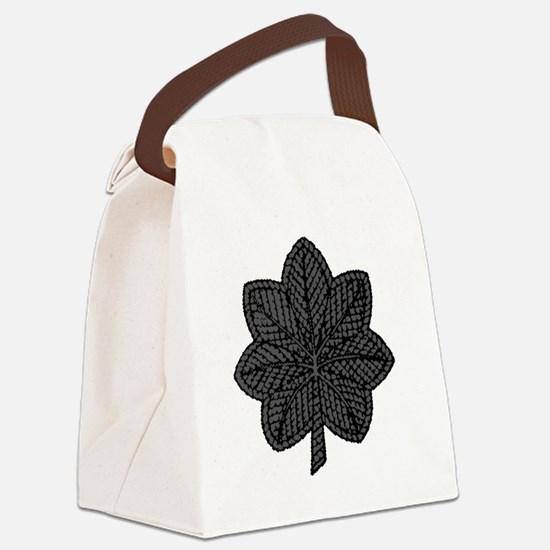 LtCol-Black Canvas Lunch Bag