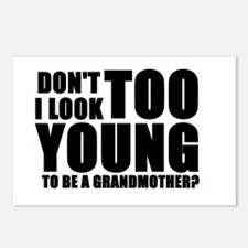Too young to be grandmother Postcards (Package of
