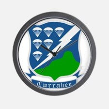 Army-506th-Infantry-WWII-Currahee-Patch Wall Clock